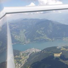 Flugwegposition um 11:42:11: Aufgenommen in der Nähe von Gemeinde Piesendorf, 5721 Piesendorf, Österreich in 2381 Meter