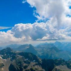 Flugwegposition um 12:43:35: Aufgenommen in der Nähe von Kleinsölk, 8961, Österreich in 2674 Meter