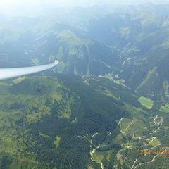 Flugwegposition um 10:54:11: Aufgenommen in der Nähe von Gemeinde Kammern im Liesingtal, Österreich in 1801 Meter