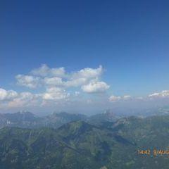 Flugwegposition um 12:42:47: Aufgenommen in der Nähe von Schladming, Österreich in 2476 Meter