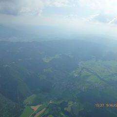 Flugwegposition um 13:37:47: Aufgenommen in der Nähe von Treglwang, Österreich in 2434 Meter