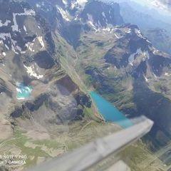Flugwegposition um 13:14:18: Aufgenommen in der Nähe von Gemeinde Kappl, Österreich in 3502 Meter