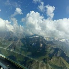 Flugwegposition um 14:18:23: Aufgenommen in der Nähe von Niedernsill, 5722, Österreich in 2783 Meter
