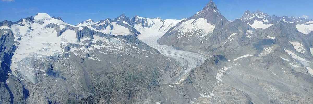 Verortung via Georeferenzierung der Kamera: Aufgenommen in der Nähe von Goms, Schweiz in 3500 Meter