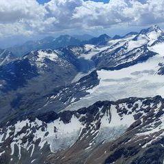Verortung via Georeferenzierung der Kamera: Aufgenommen in der Nähe von Gemeinde Sölden, Österreich in 3900 Meter