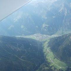 Flugwegposition um 14:22:10: Aufgenommen in der Nähe von Gemeinde Pfunds, 6542 Pfunds, Österreich in 3525 Meter