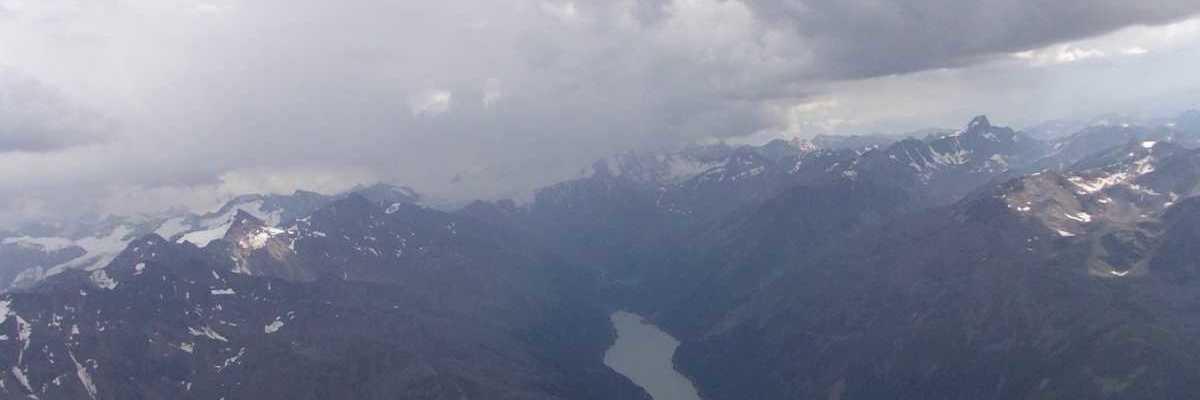 Flugwegposition um 14:06:21: Aufgenommen in der Nähe von Gemeinde Kaunertal, Österreich in 3504 Meter