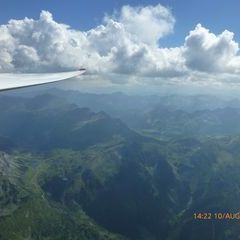 Flugwegposition um 12:22:51: Aufgenommen in der Nähe von Rottenmann, Österreich in 2644 Meter