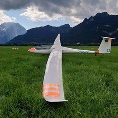 Flugwegposition um 14:21:04: Aufgenommen in der Nähe von Mittersill, Österreich in 3011 Meter