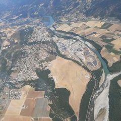 Flugwegposition um 10:57:58: Aufgenommen in der Nähe von Département Alpes-de-Haute-Provence, Frankreich in 1953 Meter