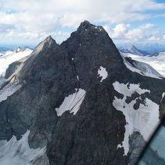 Flugwegposition um 14:55:12: Aufgenommen in der Nähe von Gemeinde Kals am Großglockner, 9981, Österreich in 3507 Meter