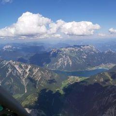 Flugwegposition um 14:25:09: Aufgenommen in der Nähe von Gemeinde Eben am Achensee, Österreich in 3011 Meter