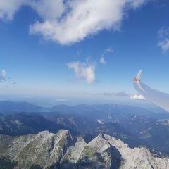 Flugwegposition um 14:36:34: Aufgenommen in der Nähe von Gemeinde Scharnitz, 6108, Österreich in 3287 Meter