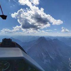 Flugwegposition um 14:47:37: Aufgenommen in der Nähe von Gemeinde Leutasch, Österreich in 2795 Meter