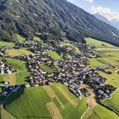Flugwegposition um 16:30:13: Aufgenommen in der Nähe von Gemeinde Sistrans, Sistrans, Österreich in 1150 Meter