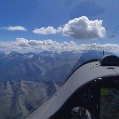 Flugwegposition um 13:12:51: Aufgenommen in der Nähe von Gemeinde Gerlos, 6281 Gerlos, Österreich in 3447 Meter