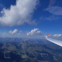 Flugwegposition um 15:03:29: Aufgenommen in der Nähe von Gemeinde Pfunds, 6542 Pfunds, Österreich in 3566 Meter
