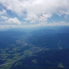 Flugwegposition um 13:27:13: Aufgenommen in der Nähe von Gemeinde Spital am Semmering, Österreich in 2576 Meter