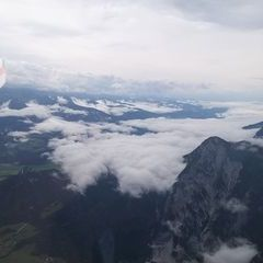 Flugwegposition um 12:34:52: Aufgenommen in der Nähe von Gemeinde Gröbming, 8962, Österreich in 2608 Meter