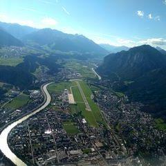Flugwegposition um 14:29:02: Aufgenommen in der Nähe von Innsbruck, Österreich in 1533 Meter