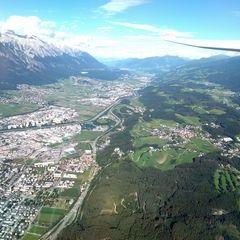 Flugwegposition um 14:28:17: Aufgenommen in der Nähe von Innsbruck, Österreich in 1592 Meter