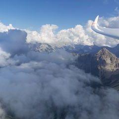 Flugwegposition um 13:38:22: Aufgenommen in der Nähe von Gemeinde Reith bei Seefeld, Österreich in 2375 Meter