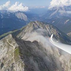 Flugwegposition um 14:10:19: Aufgenommen in der Nähe von Gemeinde Reith bei Seefeld, Österreich in 2329 Meter