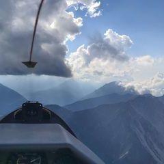Flugwegposition um 14:45:29: Aufgenommen in der Nähe von Mieming, 6414, Österreich in 2222 Meter