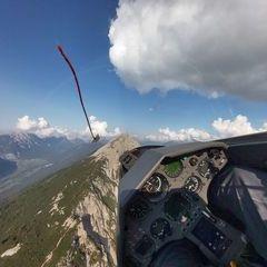 Flugwegposition um 15:17:27: Aufgenommen in der Nähe von Gemeinde Karrösten, Österreich in 2156 Meter