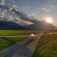 Flugwegposition um 16:29:36: Aufgenommen in der Nähe von Innsbruck, Österreich in 514 Meter