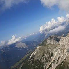 Flugwegposition um 13:34:34: Aufgenommen in der Nähe von Gemeinde Reith bei Seefeld, Österreich in 2302 Meter
