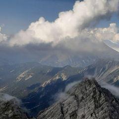Flugwegposition um 14:16:07: Aufgenommen in der Nähe von Gemeinde Zirl, Zirl, Österreich in 2269 Meter