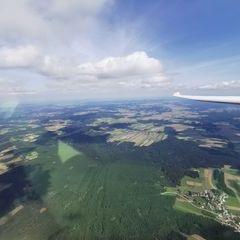 Flugwegposition um 11:58:11: Aufgenommen in der Nähe von Gemeinde Sallingberg, Österreich in 1673 Meter