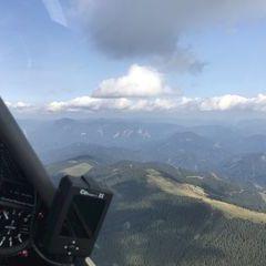 Flugwegposition um 14:08:33: Aufgenommen in der Nähe von Leoben, 8700 Leoben, Österreich in 1901 Meter