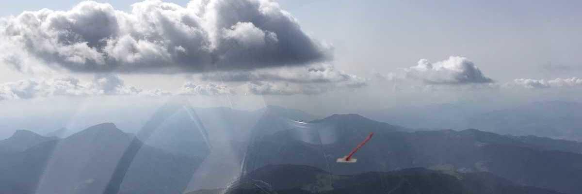 Flugwegposition um 12:55:45: Aufgenommen in der Nähe von Gemeinde Stanz im Mürztal, Österreich in 2043 Meter