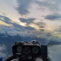 Flugwegposition um 17:01:08: Aufgenommen in der Nähe von Gemeinde Weißpriach, 5573, Österreich in 2816 Meter