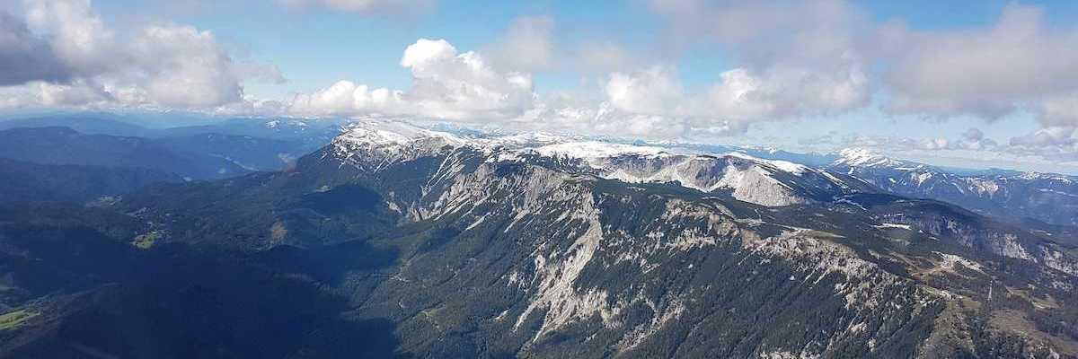 Flugwegposition um 10:10:46: Aufgenommen in der Nähe von Gemeinde Reichenau an der Rax, Österreich in 2127 Meter