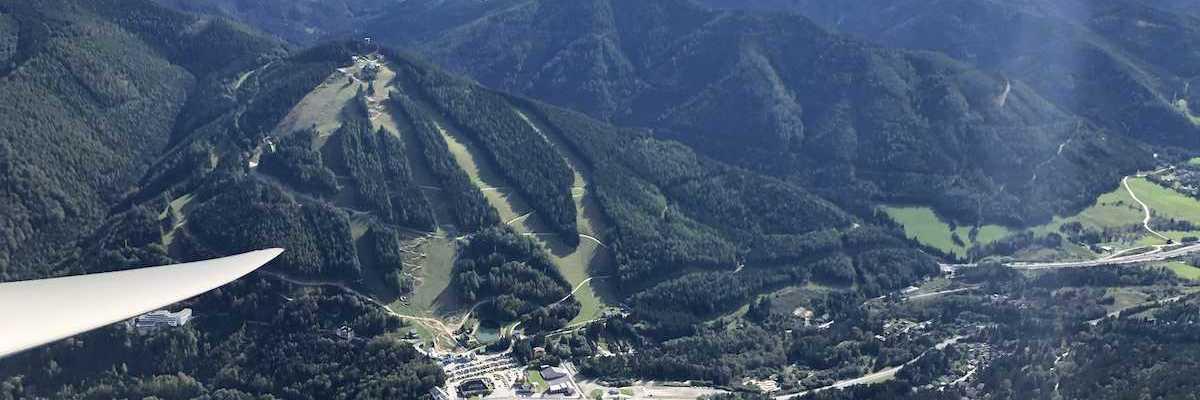 Verortung via Georeferenzierung der Kamera: Aufgenommen in der Nähe von Gemeinde Semmering, Österreich in 1800 Meter