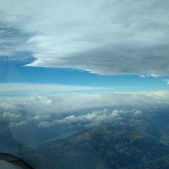 Flugwegposition um 08:47:03: Aufgenommen in der Nähe von Gemeinde Saalfelden am Steinernen Meer, 5760 Saalfelden am Steinernen Meer, Österreich in 5305 Meter