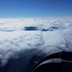 Flugwegposition um 12:06:21: Aufgenommen in der Nähe von Aflenz Kurort, 8623 Aflenz Kurort, Österreich in 5530 Meter