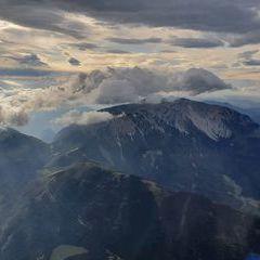 Flugwegposition um 14:56:40: Aufgenommen in der Nähe von Gemeinde Puchberg am Schneeberg, Österreich in 2416 Meter