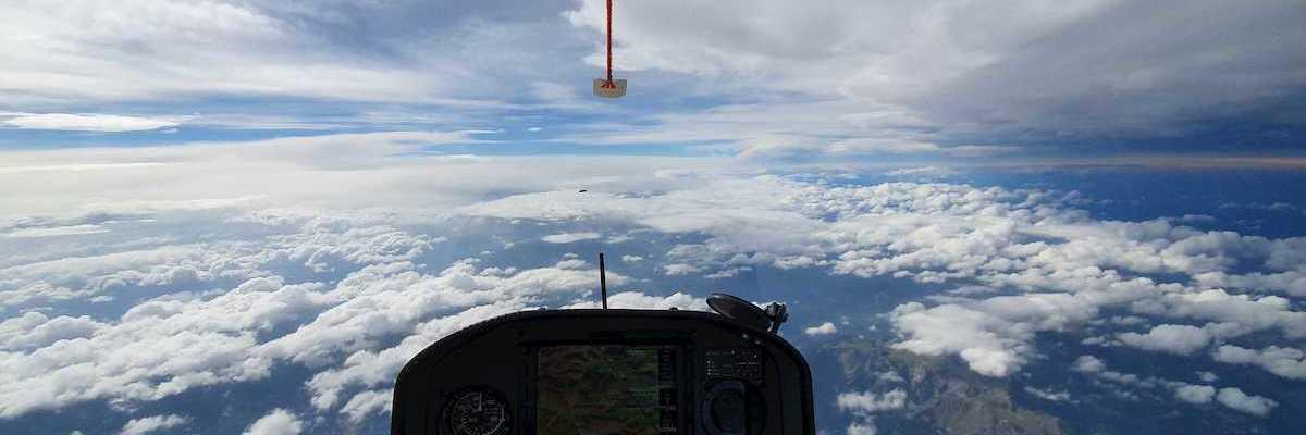 Flugwegposition um 11:31:12: Aufgenommen in der Nähe von Gemeinde Reichenau an der Rax, Österreich in 5836 Meter