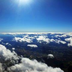 Flugwegposition um 08:33:18: Aufgenommen in der Nähe von Kloster, 8530 Kloster, Österreich in 3849 Meter