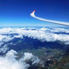 Flugwegposition um 09:36:19: Aufgenommen in der Nähe von Oberweg, Österreich in 6073 Meter