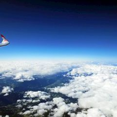 Flugwegposition um 09:55:47: Aufgenommen in der Nähe von Bretstein, 8763, Österreich in 6396 Meter