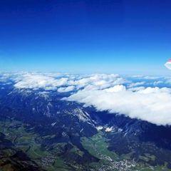 Flugwegposition um 10:27:59: Aufgenommen in der Nähe von Kleinsölk, 8961, Österreich in 5502 Meter