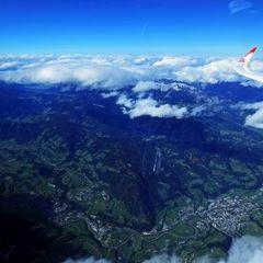 Flugwegposition um 12:07:17: Aufgenommen in der Nähe von Gemeinde Radstadt, Österreich in 4799 Meter