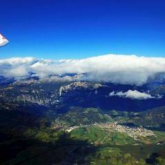 Flugwegposition um 12:28:24: Aufgenommen in der Nähe von Admont, Österreich in 3510 Meter