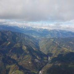 Flugwegposition um 12:57:06: Aufgenommen in der Nähe von Kapfenberg, Österreich in 1964 Meter