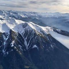 Flugwegposition um 14:24:12: Aufgenommen in der Nähe von Gemeinde Navis, Navis, Österreich in 2906 Meter